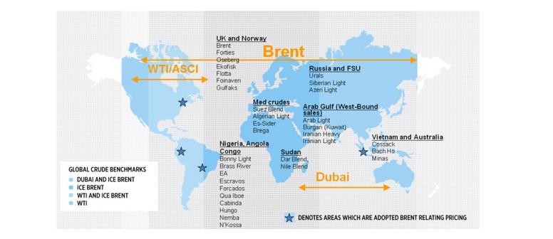 Standardy ropy naftowej na świecie