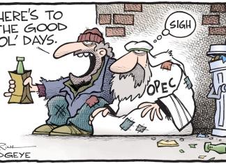 grafika przedstawiająca OPEC w krzywym zwierciadle