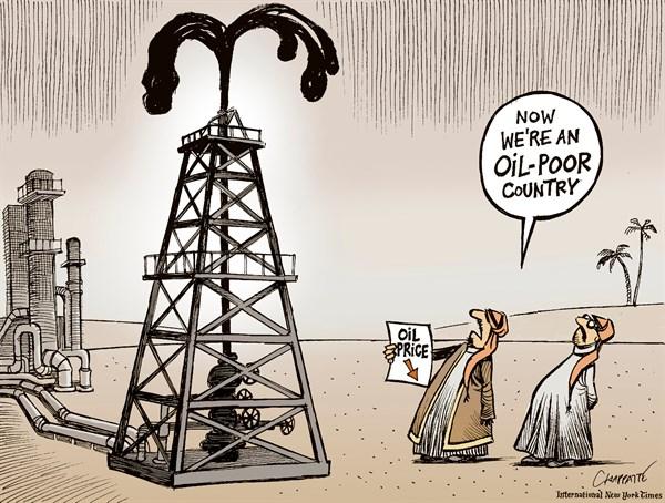 Spadek cen ropy grafika