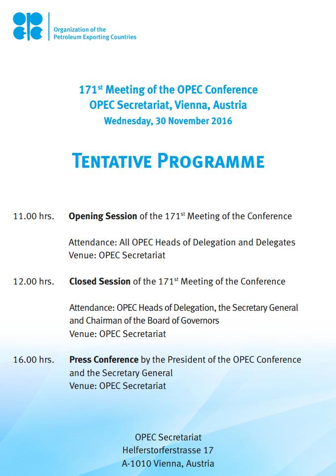 Plan spotkania państw OPEC