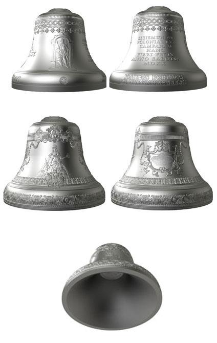 Monety Mennicy Polskiej w kształcie dzwonu
