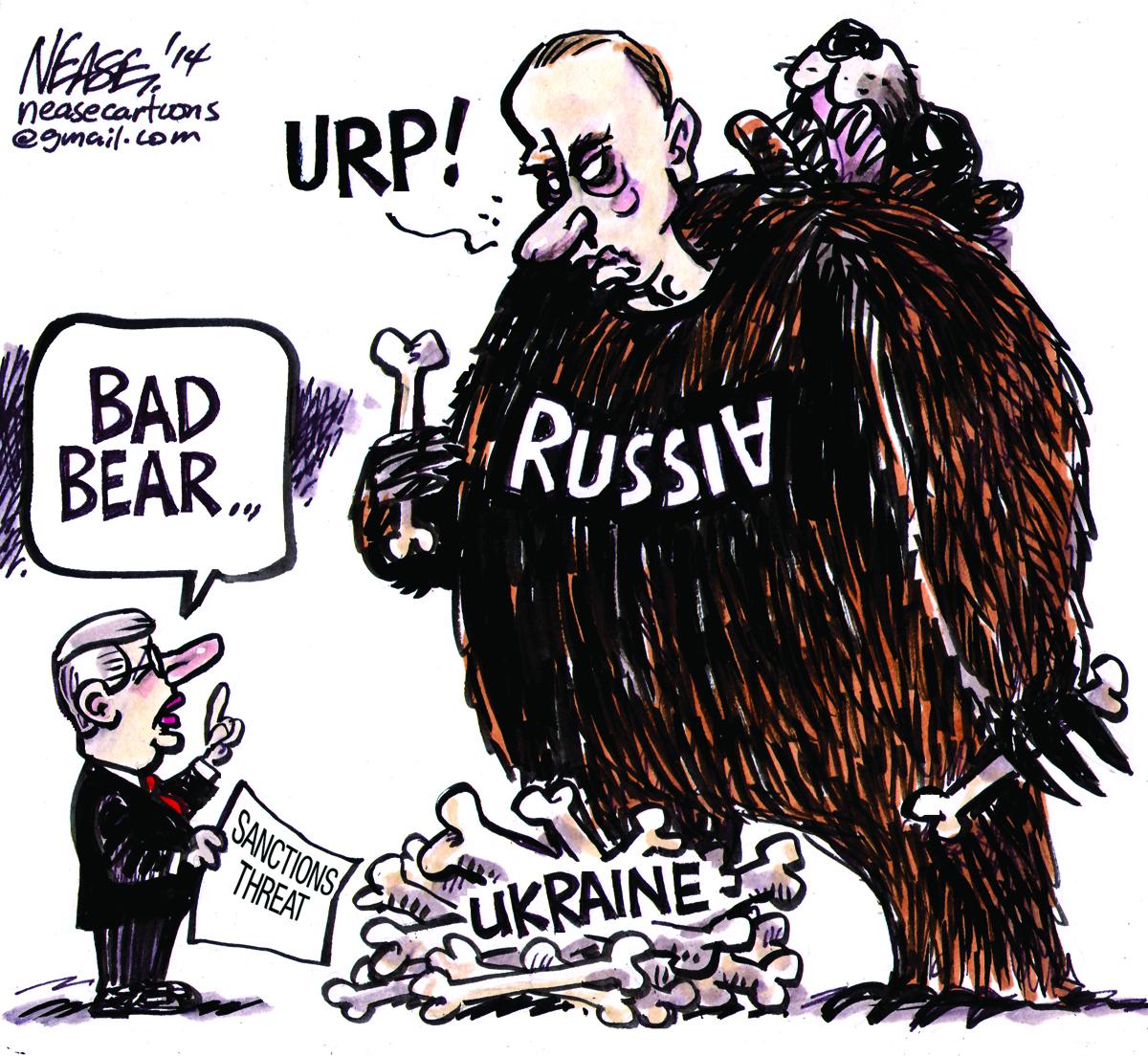 Analogia recesji jako niedźwiedzia i Rosji również zwanej niedźwiedziem